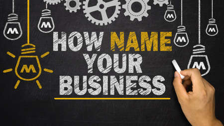 company ownership: How Name Your Business Stock Photo