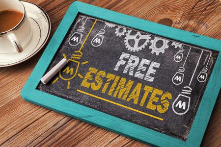 estimates: Free Estimates Stock Photo