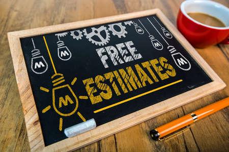 cost estimate: Free Estimates Stock Photo