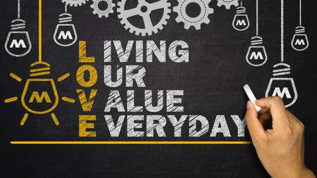 nucleo: Amor Acrónimo: viviendo nuestro valor diario
