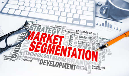 segmentation: market segmentation word cloud on office scene