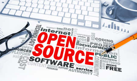open source: open source word cloud on office scene