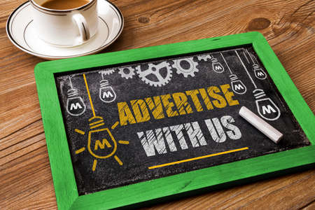 advertise with us: Advertise With Us Stock Photo