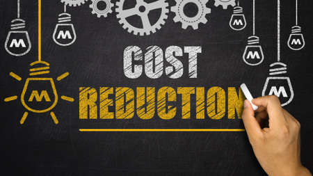 cost: Cost Reduction Stock Photo