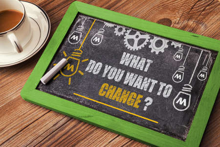 wish desire: what do you want to change Stock Photo