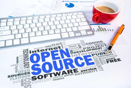 source: open source word cloud on office scene