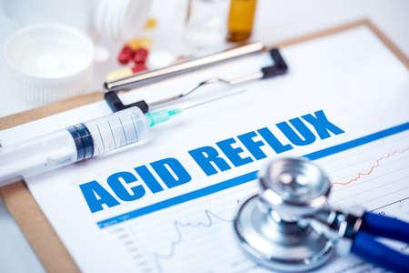 Acid reflux diagnosis;medical concept