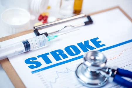 brain disease: stroke diagnosis;medical concept