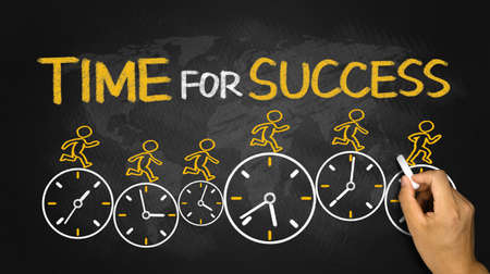 time for success concept on blackboard