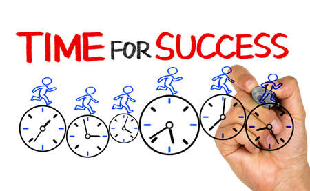 time for success concept on whiteboard