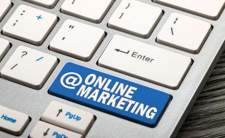 online marketing button on keyboard