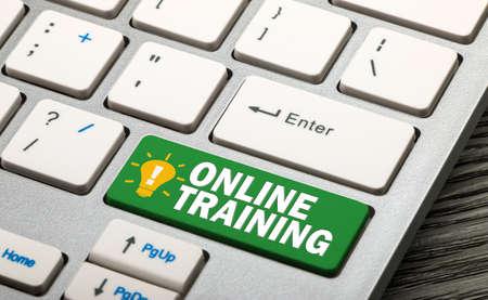 online training button on keyboard Standard-Bild