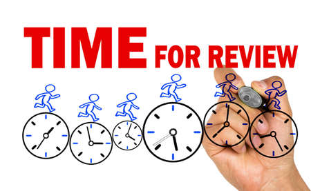 time for review concept on white background