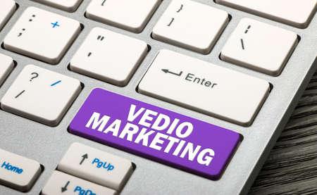 vedio marketing button on keyboard