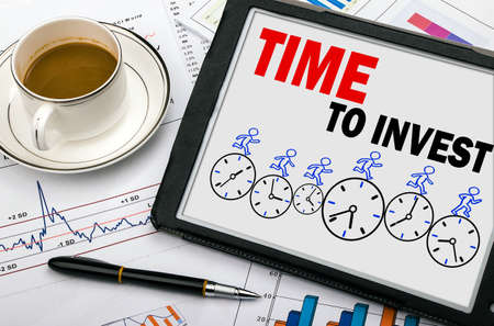 time to invest concept on tablet pc