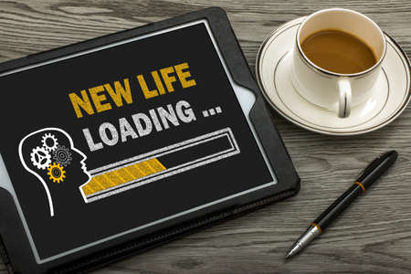 new life loading concept on touch screen