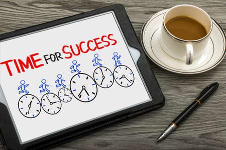 time for success concept on tablet pc Standard-Bild