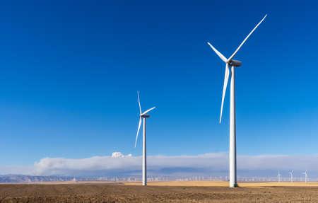 Clean energy- wind turbines Фото со стока