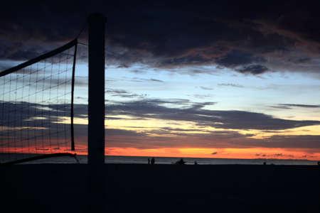 tonight: Volleyball net on the beach tonight