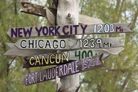 요새 재커리 테일러 주립 공원, 키 웨스트에있는 표지판