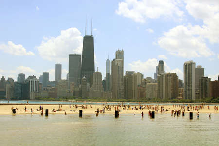 North Beach, downtown Chicago, Illinois Stock Photo - 12538045