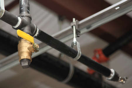 Plumbing - new construction sprinkler system Reklamní fotografie
