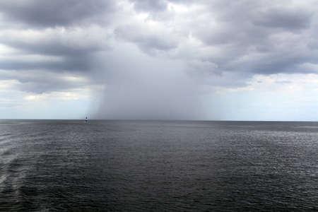 Orages violents dans la mer des Caraïbes Banque d'images - 50307860