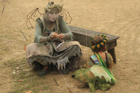 live action: Kenosha, WI - July 26: Bristol Renaissance Faire on July 26, 2015 in Wisconsin. Live action fantasy-play game 16th Century in Wisconsin, USA. Editorial