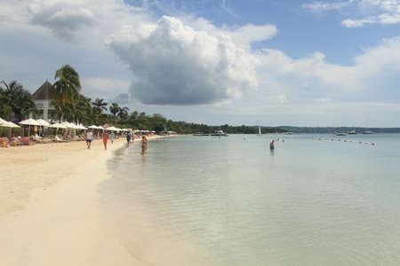 Vacances sur la plage tropicale. Jamaica Island. Mer des Caraïbes. Banque d'images - 89671741