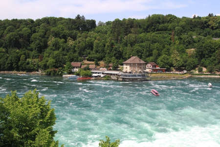 Rheinfall is the biggest waterfall in Europe. Banque d'images - 103787081