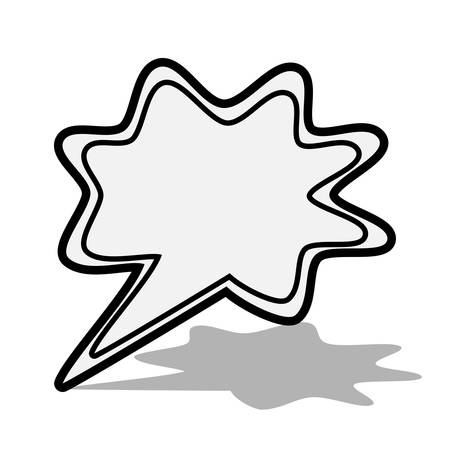 Comic book speech bubble, black on white background, icon, logo, for website, vector illustration.