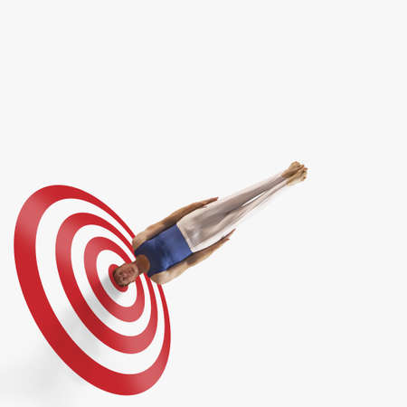 Gymnasts head in the bullseye of a target
