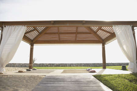 Covered outdoor yoga area, Los Cabos, Mexico LANG_EVOIMAGES