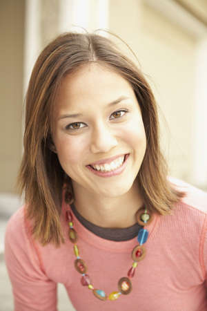 Zblízka asijské ženy s úsměvem