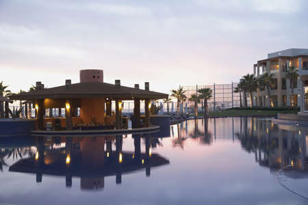 Resort hotel pool, Los Cabos, Mexico LANG_EVOIMAGES