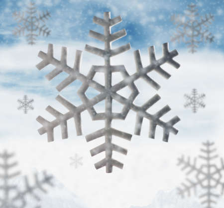Computer generated image of snowflakes LANG_EVOIMAGES