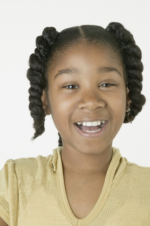 African girl laughing