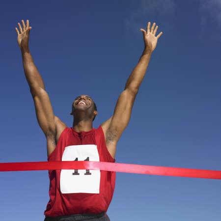 African man winning race