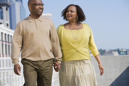 African American couple holding hands LANG_EVOIMAGES