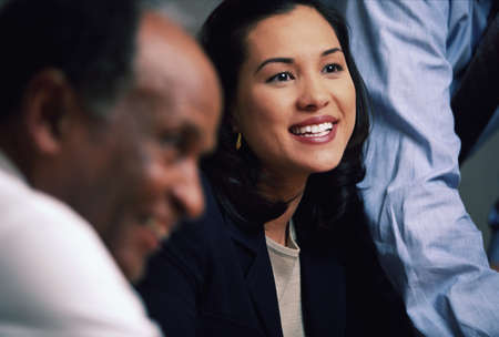 Asian businesswoman smiling