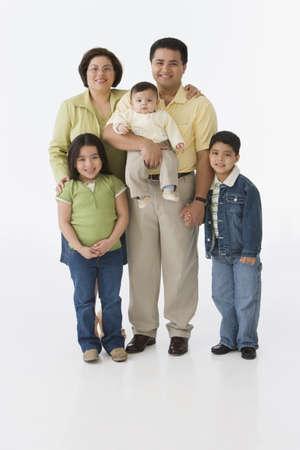 Portrait of multi-ethnic family LANG_EVOIMAGES