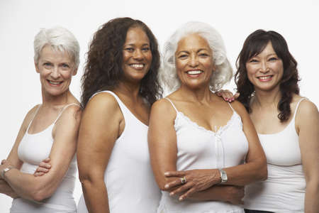 Portrait of multi-ethnic senior women LANG_EVOIMAGES