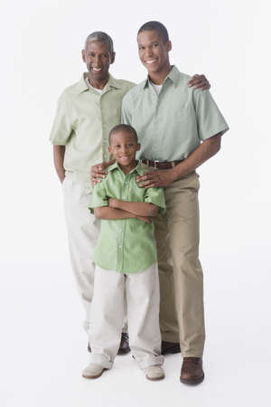Portrait of African American grandfather, father and son LANG_EVOIMAGES