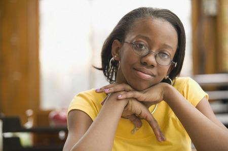 Portrait of African school girl