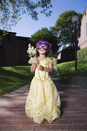 African girl in fairy princess costume LANG_EVOIMAGES