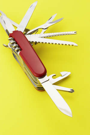 Close up open pocket knife LANG_EVOIMAGES