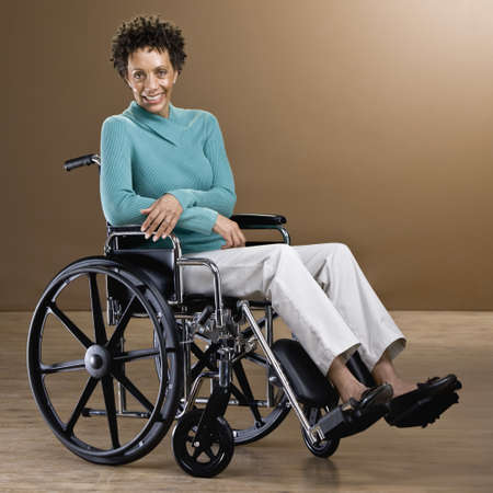 African woman in wheelchair