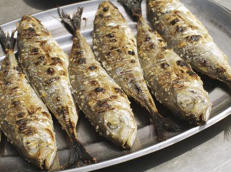 Close up of grilled Portuguese sardines LANG_EVOIMAGES