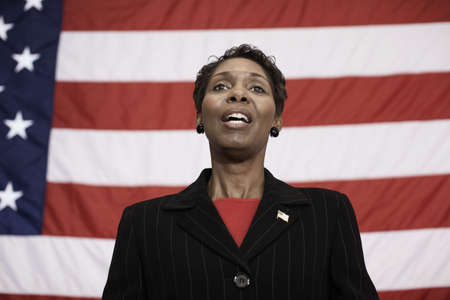 Black politician making speech LANG_EVOIMAGES