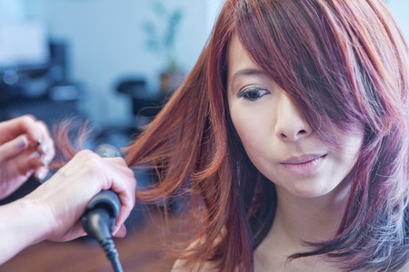 Chinese woman in beauty parlor